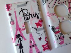Light Switch Plate Cover / Paris Single by COUTURELIGHTPLATES