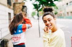 two young women around streets of London by Guille Faingold for Stocksy United London Street, Young Women, Royalty Free Stock Photos, The Unit, Couple Photos, Couples, Couple Shots, Couple Photography, Couple