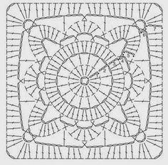 Patterns and motifs: Crocheted motif no. 512