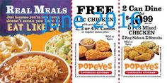 Free Printable Coupons: Popeyes Chicken Coupons