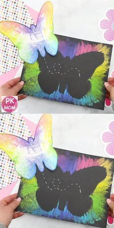 Butterfly art project for kids! Print this free butterfly template - craft - Butterfly art project for kids! Print out this free butterfly template Butterfly art project for ki - Spring Art Projects, Spring Crafts For Kids, Art Crafts For Kids, Art Project For Kids, Art Projects For Toddlers, Kid Art Projects, Art Education Projects, Kids Diy, Creative Crafts