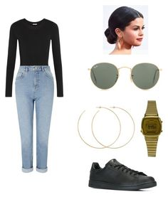 """""""Untitled #73"""" by andreakri on Polyvore featuring Ray-Ban, Casio, adidas, Allison Bryan, Wolford and Miss Selfridge"""