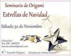 Seminario de Origami, estrellas de navidad...