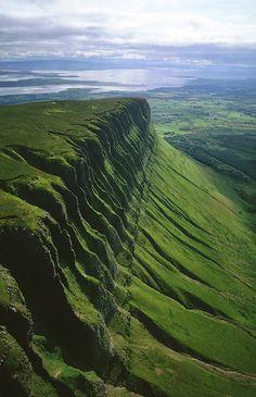 Benbulben mountain in County Sligo, Ireland