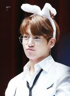 He really looks like a bunny/ Jungkook