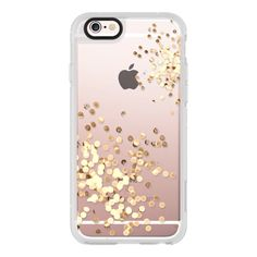 Sparkling gold dream - iPhone 6s Case,iPhone 6 Case,iPhone 6s Plus... ($40) ❤ liked on Polyvore featuring accessories, tech accessories, iphone case, clear iphone cases, iphone cases, apple iphone cases, iphone hard case and sparkly iphone cases