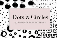 Dots and Circles: 20 patterns Graphics This collection contains 20 hand crafted seamless patterns with dots and circles. They have a textur by Type and Graphics Lab Vector Pattern, Pattern Design, Print Design, Web Design, Graphic Design, Dots Design, Business Brochure, Business Card Logo, 3d Foto