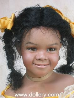 Susan Krey Collectible Dolls lol this look like a very young janet Jackson doll when she was penny from good times real cute!!
