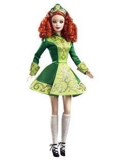 2007 Irish Dance Barbie® | Barbie Dolls of the World - Festivals of the World Collection *DOLLS OF THE WORLD