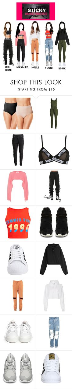 """""""NCTGemz (STICKY DANCE PRACTICE + UNCUT)"""" by nctgemz-official ❤ liked on Polyvore featuring Warner's, Moschino, Valentino, Puma, adidas Originals, Off-White, Boohoo, River Island, Ash and Topshop"""