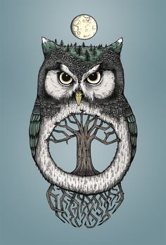 'Mother Owl' by Nicole Carn Owl Cartoon, Owl Pictures, Beautiful Owl, Owl Crafts, Owl City, Owl Patterns, Cute Owl, Patch, Spirit Animal