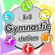 Gymnastic stations for PE – A complete sport unit with over 60 activities for the trampoline, wedge, bars, floor mats, beams and Gymnastics Lessons, Preschool Gymnastics, Toddler Gymnastics, Gymnastics Coaching, Physical Education Activities, Health And Physical Education, Motor Activities, Fitness Activities, Kids Education