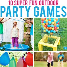No summer party is complete without getting outsideand playing some games! Here are some outdoor party games that will be a bighit for all ages: 1. Giant bubble maker via One Charming Party– kids will get a huge kick out of being inside a massive ...