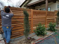 Paint One Wooden Shadow Box Fence Home Design Ideas in proportions 1280 X 960 Horizontal Shadow Box Wood Fence - A kind of correction to deter him from Brick Fence, Front Yard Fence, Diy Fence, Cedar Fence, Fence Ideas, Cedar Trellis, Wood Fence Design, Modern Fence Design, Privacy Fence Designs