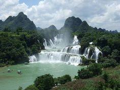 Falls at Mount Lushan, Jiangxi China  | In #China? Try www.importedFun.com for award winning #kid's #science |