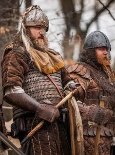 Reenactors who look like real medieval norse men... not like all those ridiculous shaven eggheads!