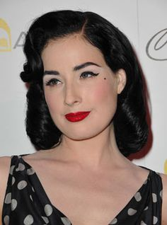 the beautiful Dita Von Teese. Her make up is always perfection.