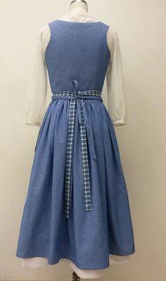 ADULT SIZES Belle Blue Village Dress PDF sewing pattern 2017
