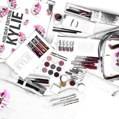 Too much to handle 😍 HOLIDAY EDITION!!!!!!! ☃ MONDAY NOV21 @kyliecosmetics Ok guys here are the prices!  Lip Kit Ornament $30 Holiday Kyshadow Palette $42 4 piece full size kit $45  Creme Shadow $20 Mini Kit $36  Gloss Ornament $15  Metal Ornament $18 Kyliner $26  Makeup bag $36 Big box $290