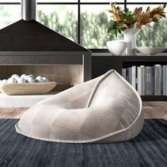 Floor Cushion Couch, Floor Cushions, Pouf Ottoman, Japanese Minimalist, Home Decor Bedroom, Room Decor, Home Decor Trends, House Rooms, Bean Bag Chair