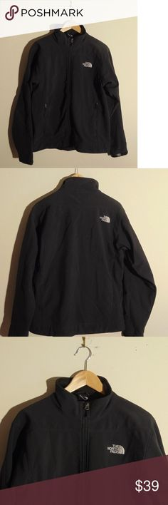 """North Face Mens Jacket Outerwear Spell Logo Black Excellent pre owned condition. No stains, holes or flaws.  Measurements: Pit to Pit:21.5"""" Top to Bottom:27"""" The North Face Jackets & Coats"""