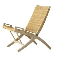 Originally designed in 1949. The materials used for this chair were natural materials. wegner used solid wood and cane. This chair gives of a beach feel to it and relaxing.