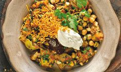 Karam Sethi's potato chaat: 'It's a signature dish at my restaurant Gymkhana.' Photograph: Colin Campbell for the Guardian. Food styling: Claire Ptak