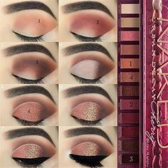 "Urban Decay Naked Cherry Palette History of eye makeup ""Eye care"", put simply, ""eye make-up"" Eye Makeup Steps, Natural Eye Makeup, Makeup For Brown Eyes, Smokey Eye Makeup, Urban Decay Makeup, Eyeliner, Make Up Designs, Special Makeup, Naked Palette"