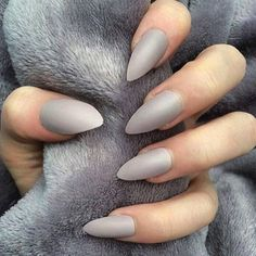 Grey Stiletto Nails Love The Shape And Color