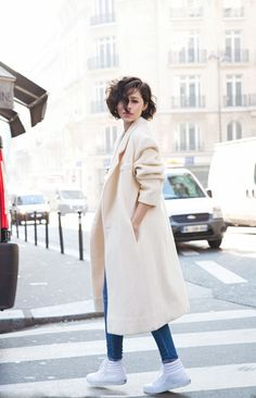 robe coat with jeans