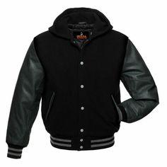 Boys Girls Varsity Letterman Jacket Baseball Sweatshirt School Coat Cotton Rock Music Logo Print