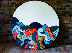 Oriental painting painted onto wood Japanese Style, Japanese Art, Oriental, Disney Characters, Fictional Characters, Wood, Painting, Japan Art, Madeira