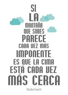 Montañas y cimas... Muy cierto!!!