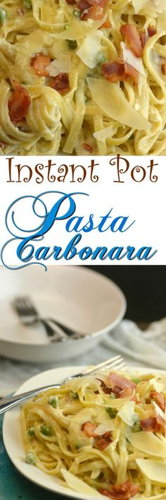 Instant Pot Pasta Carbonara is creamy and delicious garlic and bacon mixed in this wonderful cream sauce gives your tastes buds a little party.