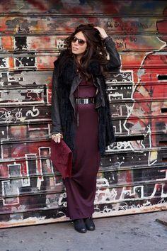burgandy hues | Natacha Steven Blogger Natacha Steven with the Jill Milan Newbury Street portfolio