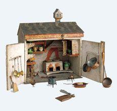 #Spielzeugküche, 1788 datiert Holz, bemalt; Kupfer, Messing, Keramik und andere Materialien // ENGLISH: #Play #kitchen Dated 1788 #Wood, painted, copper, brass, ceramic and other materials @ #Museum of #domestic #culture #history #wood #iron #craft #switzerland #basel #furniture #bust #moebel #antik #interior #museum #schweiz #kunst #art #hmb #toys #chilrend #puppet