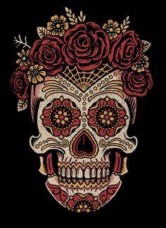 Saint Añejo - Female sugar skull  by Derrick Castle