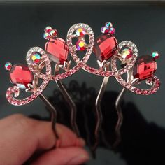 Find More Hair Jewelry Information about 6pcs/lot Fashion girl Elegant Crown Crystal Tuck Comb Women Hair Comb Hair Pin clips Girls Hair accessory,High Quality hair category,China accessories glasses Suppliers, Cheap hair accessories red from Hair's Art Online Wholesale Store on Aliexpress.com