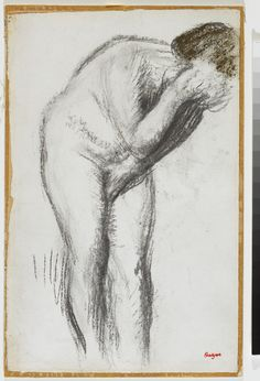 """"""" Female Nude, 1905 Edgar Degas, French, 1834 - 1917 Charcoal and pastel on laid paper Overall: 41 x 26.3 cm Gift of Mr. Noah Torno, 2003 © 2014 Art Gallery of Ontario """""""