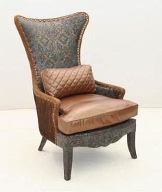 Old Hickory Tannery Bronze Leather Accent Chair Western Accent Chairs    Bronze tone leather seat cushionOld Hickory Tannery Tufted Leather Accent Chair Western Accent  . Aqua Leather Accent Chair. Home Design Ideas