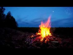 Campfire Night Sounds In The Great Outdoors With Owls & Crickets Ambiance For Sleep And Relaxation - YouTube