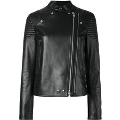 Givenchy leather jacket (€4.415) ❤ liked on Polyvore featuring outerwear, jackets, black, givenchy jacket and givenchy