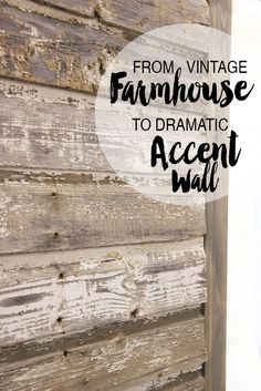 Using vintage farmhouse or barn boards to make a dramatic interior accent wall, with personality! www.freshcrush.com
