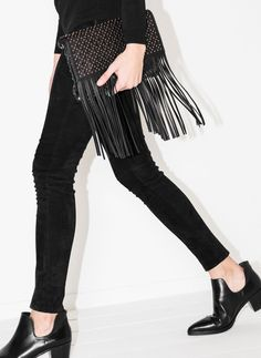 Studded fringed envelope clutch - See all - SPECIAL PRICE: BAGS - Uterqüe Spain