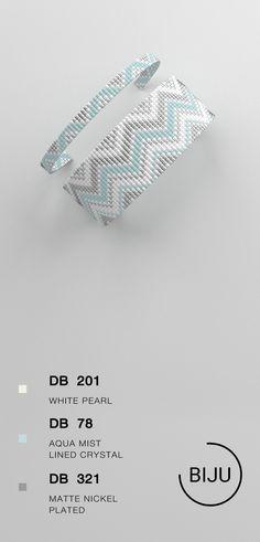 $4.72 Loom bracelet pattern, loom pattern, square stitch pattern, pdf file, pdf pattern, cuff, #13BIJU