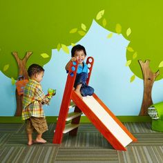 DIY Toddler Size Slide from Lowe's Creative Ideas (@Jason Ahlbrandt this looks like a Daddy project)