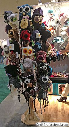 Ideas for knitting and crochet craft fair displays