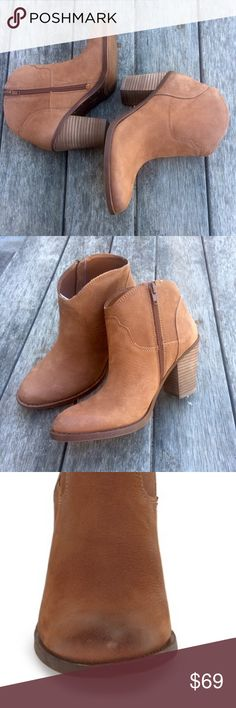 BRAND NEW w/o/t  Lucky ELLER Ankle Bootie Please note these are size 7-  1/2 gorgeous and new  in box💕✨ cognac in color Lucky Brand Shoes Ankle Boots & Booties