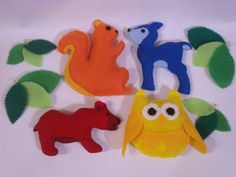 Colorful Forest Animal Baby Nursery Mobile by ModernSimpleBaby, $65.00