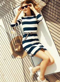 On our yacht we shall wear nautical stripes....